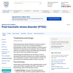 Post-traumatic stress disorder (PTSD) Treatments and drugs