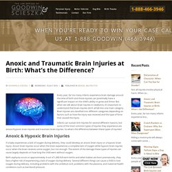 Anoxic and Traumatic Brain Injuries at Birth: What's the Difference?