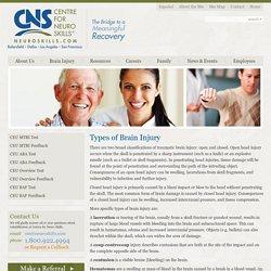Traumatic Brain Injury Resource Guide - Types of Brain Injury
