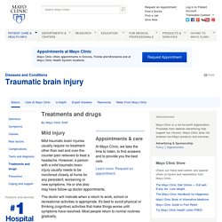 Traumatic brain injury Treatments and drugs