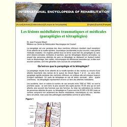 Les lésions médullaires traumatiques et médicales (paraplégies et tétraplégies)