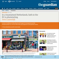 In a traumatised Netherlands, faith in the EU is plummeting