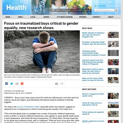 Focus on traumatized boys critical to gender equality, new research shows