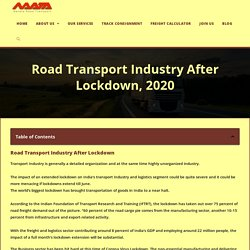Traumatized Road Transport Industry After Lockdown, 2020 - Navata