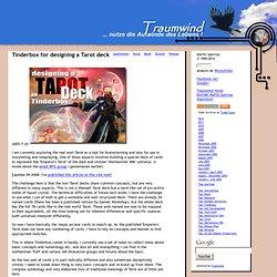 Tinderbox for designing a Tarot deck