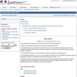 Code du travail - Article L8241-1