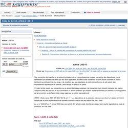 Code du travail - Article L132-13