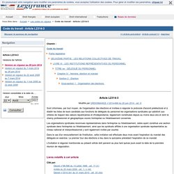 Code du travail - Article L2314-3