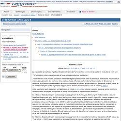 Code du travail - Article L2242-8