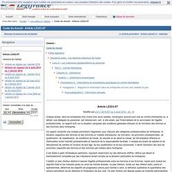 Code du travail - Article L2323-57