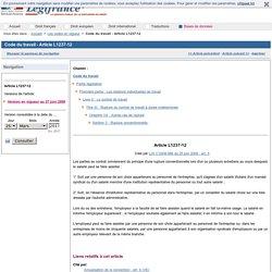 Code du travail - Article L1237-12