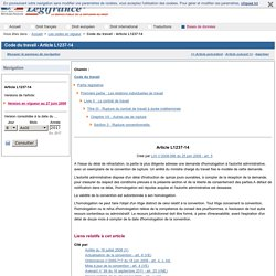 Code du travail - Article L1237-14