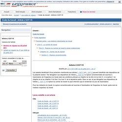 Code du travail - Article L1237-15