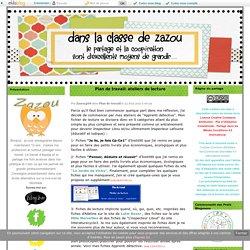 Plan de travail: ateliers de lecture