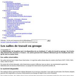 AB 6 - salles de travail en groupe, Bib de Paris-Dauphine