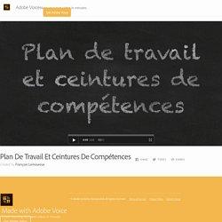 Plan De Travail Et Ceintures De Compétences