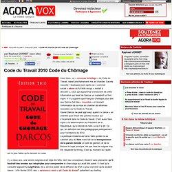 Code du Travail 2010 Code du Chômage
