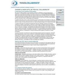 Travail collaboratif [Choisir le bon outil de travail collaboratif]