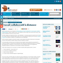 Travail collaboratif à distance