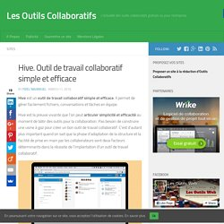 Hive. Outil de travail collaboratif simple et efficace
