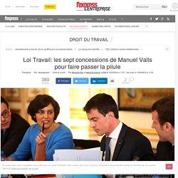 Loi Travail: les sept concessions de Manuel Valls pour faire passer la pilule