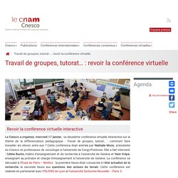 Travail de groupes, tutorat… : revoir la conférence virtuelle