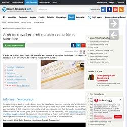 Arrêt de travail et arrêt maladie : contrôle et sanctions