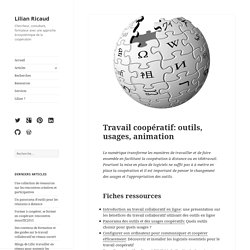 Travail coopératif: outils, usages, animation