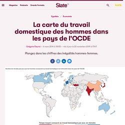 La carte du travail domestique des hommes dans les pays de l'OCDE