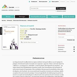 Travail et santé, par Yves Clot et Dominique Lhuilier