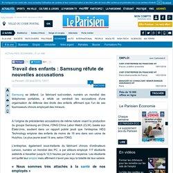 Travail des enfants : Samsung réfute de nouvelles accusations