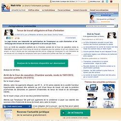 Tenue de travail obligatoire et frais d'entretien | Net-iris Actus