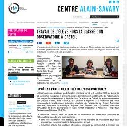 Travail de l'élève hors la classe : un observatoire à Créteil