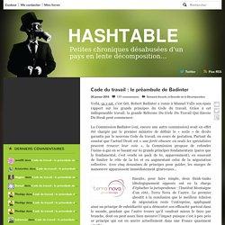 Code du travail : le préambule de Badinter