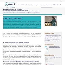 santé au travail et prévention des risques liés à la santé mentale et physique