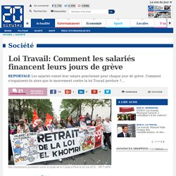 Loi Travail: Comment les salariés financent leurs jours de grève