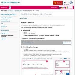 Travail à faire - Edul@b_Pôle d'appui Albi - Carmaux - CITE SCOLAIRE BELLEVUE