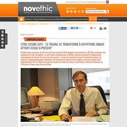 """Cyril Cosme (OIT) : """"le travail se transforme à un rythme jamais atteint jusqu'à présent"""""""
