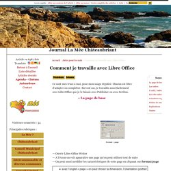 Comment je travaille avec Libre Office