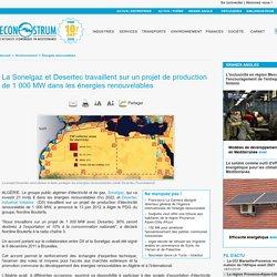 La Sonelgaz et Desertec 1 000 MW renouvelables