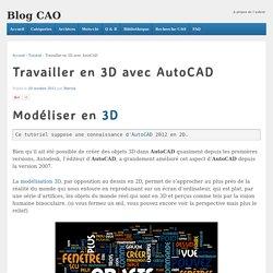 Travailler en 3D avec AutoCAD