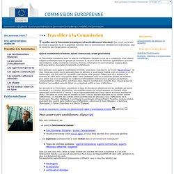 Travailler à la Commission