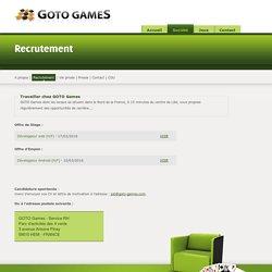 Travailler chez GOTO Games