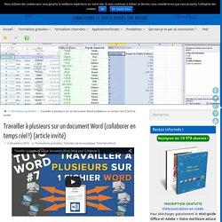 Travailler à plusieurs sur un document Word (collaborer en temps réel !) (article invité) - Votre Assistante