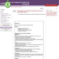 Trois activités pour travailler les compétences d'oral en lien avec la lecture cursive