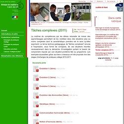 Travailler à développer des compétences à partir des SVT - Tâches complexes (2011)