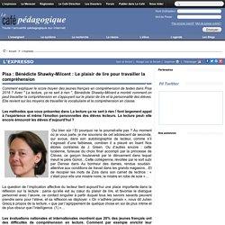 Pisa : Béatrice Shawky-Milcent : Le plaisir de lire pour travailler la compréhension