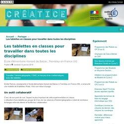 Les tablettes en classes pour travailler dans toutes les disciplines - Créatice