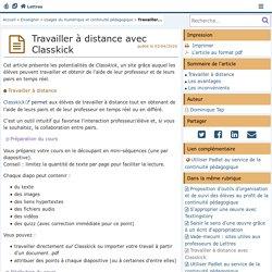Classkick, une application intéressante pour le travail à distance - Lettres