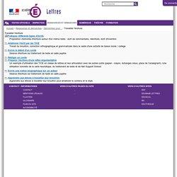 Travailler l'écriture — Site Lettres de l'académie de Lille